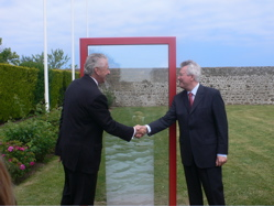 M. Lortie and M. Couanau inaugurated the monument